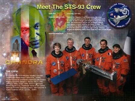 Space Shuttle Columbia Mission STS-93 poster