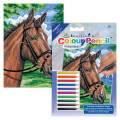 MINI Malování podle čísel pastelkami - Kůň