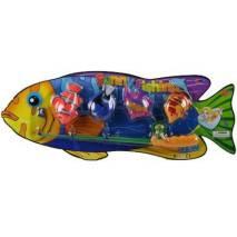 Rybičky a rybářský prut
