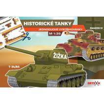 Vystřihovánka - Historické tanky