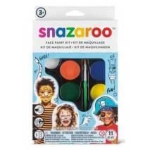 Snazaroo Velká sada obličejových barev - Voják a tygr