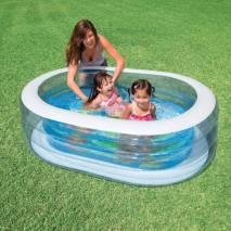 INTEX Bazén oválný průhledný 163x107cm 57482