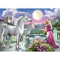 Puzzle 120 dílků - Princezna s jednorožci 13098