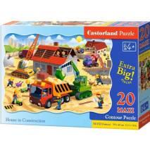 Puzzle maxi 20 dílků - Stavba 2412