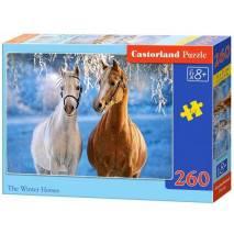 Puzzle 260 dílků - Koně v zasněžené krajině 27378