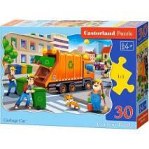 Puzzle 30 dílků - Popelářské auto 3778