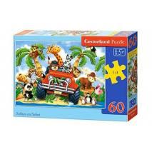 Puzzle 60 dílků - Jízda na safari 6793