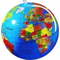 Nafukovací globus 30cm - Zeměkoule
