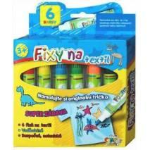 Fixy na textil 6ks - nevypratelné