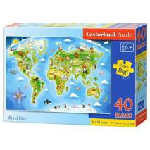Puzzle MAXI 40 dílků - Světadíl 40117