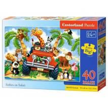 Puzzle MAXI 40 dílků - Safari v autě 40131
