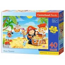 Puzzle MAXI 40 dílků - Piráti 40148