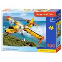 Puzzle 300 dílků - Žlutý protipožární letoun 30026