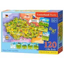 Puzzle 120 dílků - Malovaná Česká republika