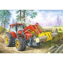 Puzzle 60 dílků - Traktor nakladač 6601