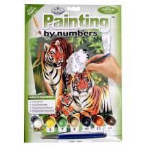 Malování podle čísel - Tygří rodinka PJS27