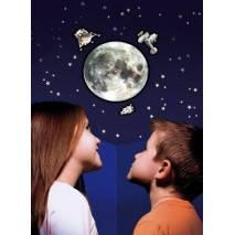 GlowStars Glow 3D Velký Měsíc a Apollo