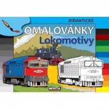 Didaktické omalovánky - Lokomotivy