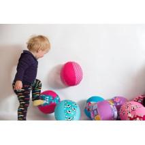 BubaBloon dětský balón - kroužky žlutý
