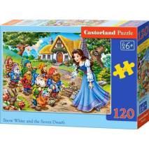 Puzzle 120 dílků - Sněhurka a sedm trpaslíků 13401