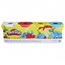 Hasbro Play-Doh Modelína 4 barvy (DINO) 448g