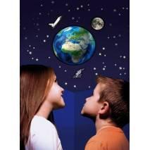 GlowStars Glow 3D Planeta Země, Měsíc, raketoplán a ISS