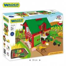 Wader Farma se stodolou traktorem a zvířátky 25450
