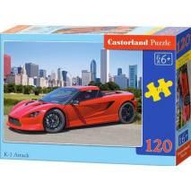 Puzzle 120 dílků - Sporťák červený K-1 Attack 12824