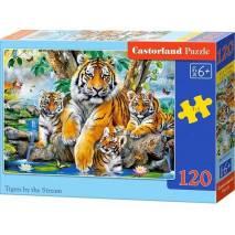 Puzzle 120 dílků - Tygři u řeky 13517