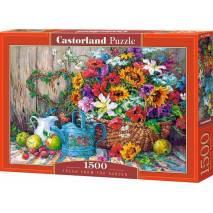Puzzle 1500 dílků - Čerstvé květiny ze zahrady 151684