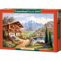Puzzle 2000 dílků - Alpy malované 200511