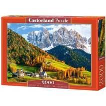 Puzzle 2000 dílků - Kostel svaté Magdalény Dolomity 200610