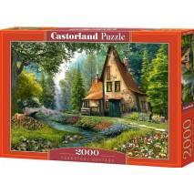 Puzzle 2000 dílků - Domek se špičatou stříškou u potoka 200634