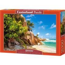 Puzzle 2000 dílků - Překrásná pláž na Seychellách 200665