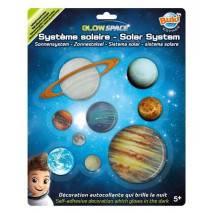 BUKI 3D Planety svítící dekorace na zeď