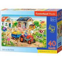Puzzle MAXI 40 dílků - Život na farmě 40193