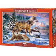 Puzzle 500 dílků - Vlčí říše 53049