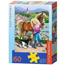 Puzzle 60 dílků - Procházka s koníkem 6755
