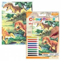 MINI Malování podle čísel pastelkami - Dinosauři