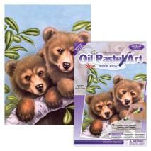 MINI Malování podle čísel olej.pastely - Medvídek