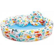 [rozbaleno] INTEX Set bazén rybičky + kruh a míč 59469