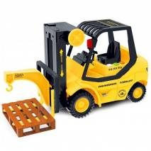 Vysokozdvižný vozík žlutý, zvuk a světlo