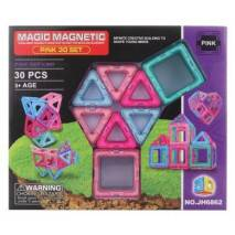 Magnetická stavebnice Magic Magnetic 30ks PINK
