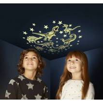 GlowStars Glow Hvězdy a dinosauři