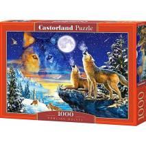 Puzzle 1000 dílků - Vyjící vlci 103317
