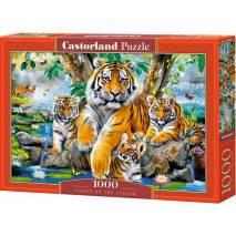 Puzzle 1000 dílků - Tygři u řeky 104413