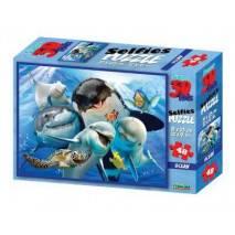 Puzzle 3D efekt - Podmořské selfie 48 dílků