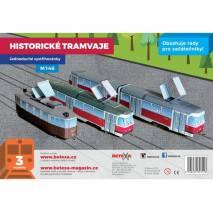Vystřihovánka - Historické tramvaje