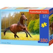 Puzzle 180 dílků - Hnědý kůň - podzimní vítr 18314