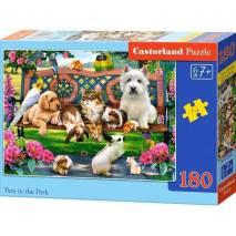 Puzzle 180 dílků - Mazlíčci v parku 18444